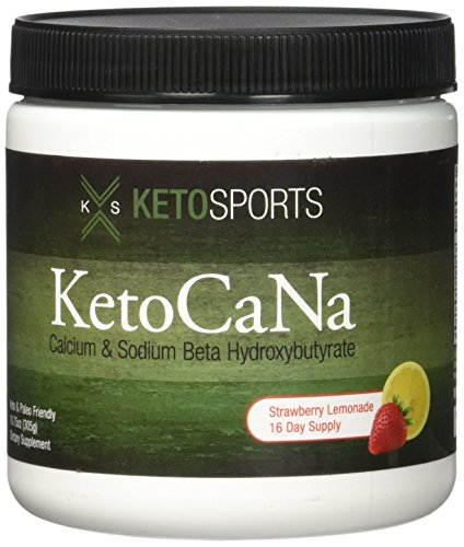 KetoSports KetoCaNa Dietary Supplement, Strawberry Lemonade, 305g