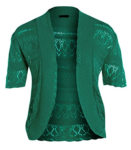 Xclusive Collection - Chaqueta - Túnica - manga 3/4 - para mujer Jade Green. 44/46