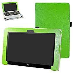 "Hp Pavilion X2 10 Hp X2 210 G1 Case,mama Mouth Pu Leather Folio Stand Cover For 10.1"" Hp Pavilion X2 10-n113dx N114dx N123dx N124dx N013dx Hp X2 210 G1 Detachable 2-in-1 Laptoptablet,green"