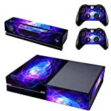 Cheap SKINOWN Xbox 1 Blue Purple Lines Skin Sticker Vinly Decal Cover for Xbox One(XB1) Console and 2 Controller with 1 Kinect Skins