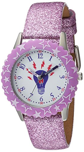 Discovery Watch (eWatchFactory Girl's 'Discovery Channel' Quartz Stainless Steel Sport Watch, Color:Purple (Model: WDC000003))