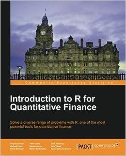 Introduction To R For Quantitative Finance Descargar PDF Gratis