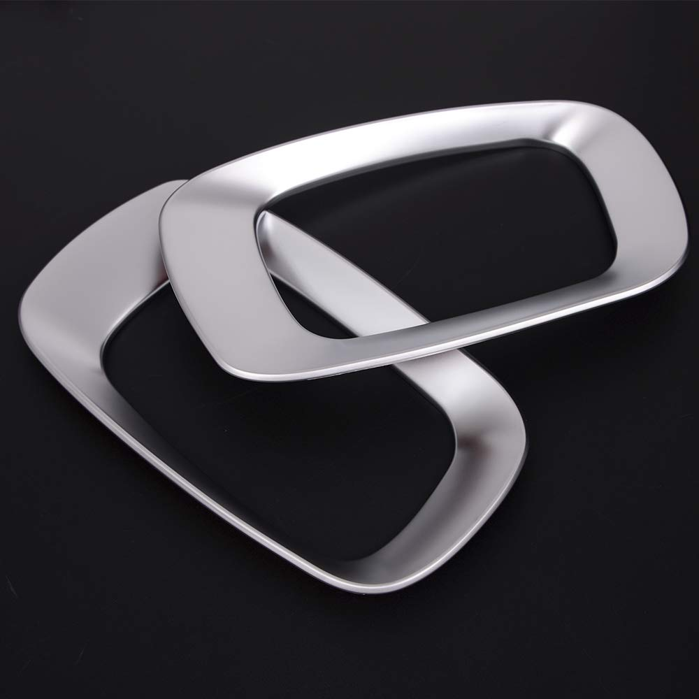 TongSheng ABS Chrome Side Seat Adjustment Cover Frame Trim 2pcs for Land Rover Range Rover Evoque 2012-2015