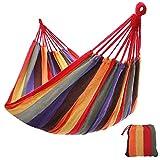 SONGMICS 210 x 150 cm Cotton Hammock Portable for Outdoor Camping Garden Sleeping Load 300 kg GDC210
