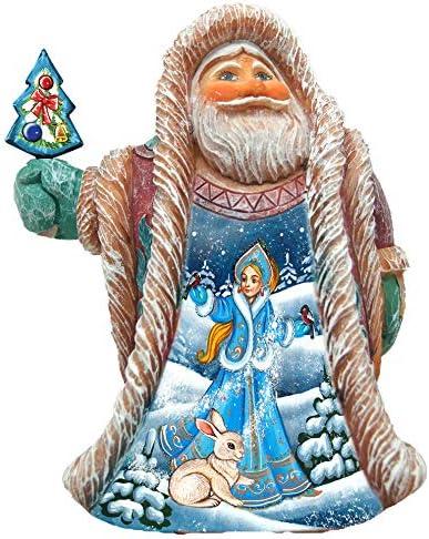 Amazon Com G Debrekht Christmas Décor Snow Maiden Regal Santa 5150119 Home Kitchen