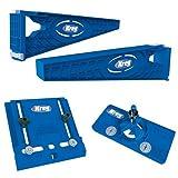 Kreg Tool Company KHI-SLIDE Drawer Slide Jig with KHI-PULL Cabinet Hardware Jig and KHI-HINGE Concealed Hinge Jig