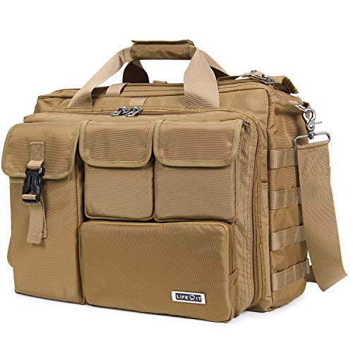 Lifewit 17' Men's Military Laptop Messenger Bag Multifunction Tactical Briefcase Computer Shoulder Handbags