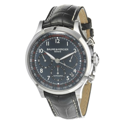 Baume-Mercier-Mens-MOA10065-Automatic-Stainless-Steel-Blue-Dial-Chronograph-Watch