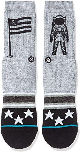 Stance Men's Landed Crew Socks, Grey, Medium from Stance