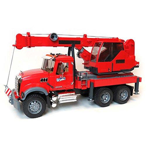 Bruder Mack Granite Crane Truck with Light & Sound Vehicle (Bruder Toys Mack Granite Liebherr Crane Truck)