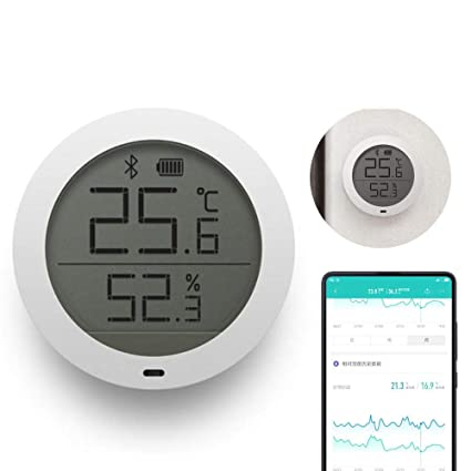 Aolvo Digital Hygrometer Indoor Thermometer, Bluetooth Wireless APP Control Accurate Temperature Humidity Monitor Meter for