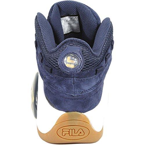 Mens Fila Bolle Di Pallacanestro Sneaker Fila Navy / Metallic Gold / Gum