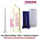 Plexus MA300 All Purpose High Strength 5-Minute MMA Adhesive (30500) 50ml/1.7oz Caulk Gun Adapter Kit