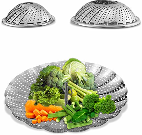 Collapsible Steamer Set of 2 Stainless Steel