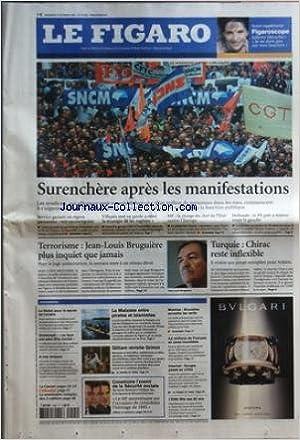 FIGARO (LE) [No 19026] du 05/10/2005 - SURENCHERE APRES LES MANIFESTATIONS TERRORISME - JEAN-LOUIS BRUGUIERE PLUS INQUIET QUE JAMAIS TURQUIE - CHIRAC RESTE INFLEXIBLE L'ESSENTIEL - LE NOBEL POUR LE SECRET DE L'ULCERE - DOMENECH - LE FAUX PAS PEUT ETRE MOR