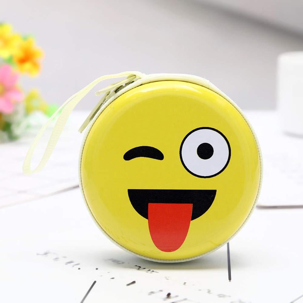 ALIKEEY Mini Moneda Cute Expresión Elementos Ronda Headset, Monedero del Bolso De La Bolsa Verano Grandes PequeñOs: Amazon.es: Equipaje