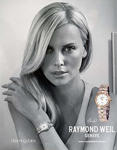 print-ad-with-charlize-theron-for-raymond-weil-parsifal-gold-watchesprint-ad