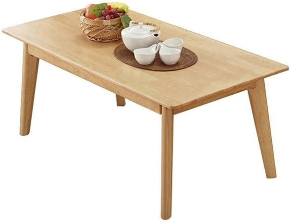 Xu-table Sofá TV Mesa Baja, Sala de Estar Cocina Adulto Mesa Cuadrada, Mesas de jardín Recuperate Madera de Tea, Año Beige: Amazon.es: Hogar