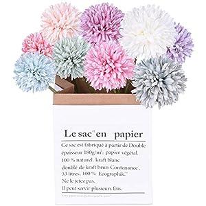 DearHouse Artificial Flowers, 9Pcs Fake Flowers Silk Artificial Hydrangea Bridal Wedding Bouquet for Home Garden Party Wedding Decoration 58