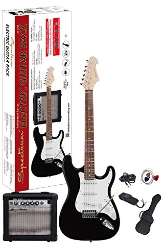 Spectrum AIL 278A Electric Guitar Pack, Black from Ashley Entertainment