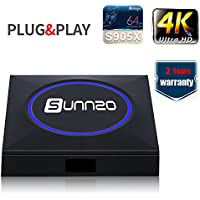 (2017 New Model)Ultra HD Android 6.0 TV BOX/Streaming Media Player with Original Amlogic S905X Quad-core,1GB RAM+8GB Samsung eMMC,with LED Light Cover,Wifi,4K,H.265