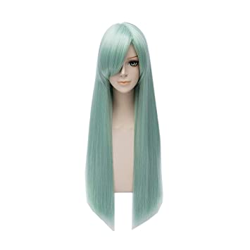Anime The Seven Deadly Sins Elizabeth Liones Cosplay Wigs Long Straight Light Green Party Carnival Synthetic Hair Wig