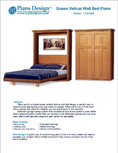 Murphy Craftsman Design Bed Frame, Queen Size / Horizontal Wall Bed ...