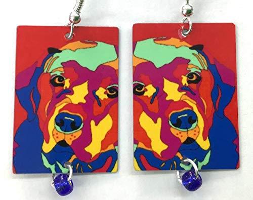 (Lab Abstract, Labrador Retriever Earrings, Chesapeake Bay Retriever Earrings, by Artist, Patti Siehien, Ships Free)