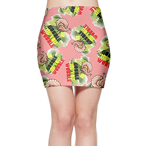 SKIRTS WWE Gobble-You-Wobble Women Slim Fit High Waisted Mini Short Skirts by SKIRTS WWE