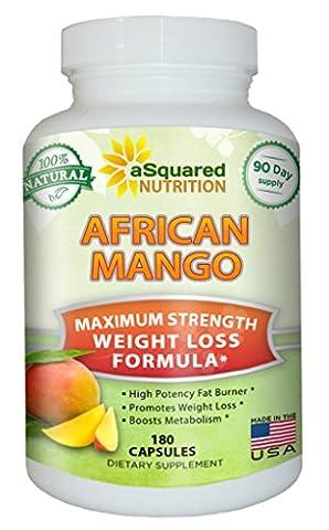 100% Pure African Mango Extract Cleanse (180 Capsules) Plus Raspberry Ketones & Green Tea Complex, Irvingia Gabonensis Seed Fat Burner, Fast Weight Loss Diet Pills Supplements, Detox Drops Slim (Pills Fast)