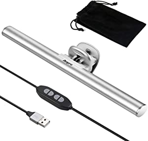 Anpro Laptop Computer Monitor Light, Screen Light Bar E-Reading LED Task Lamp, USB Powered Monitor Lamps, can Adjust The Brightness and the Angle of The Light, for Home, Travel, Office, Business Trips