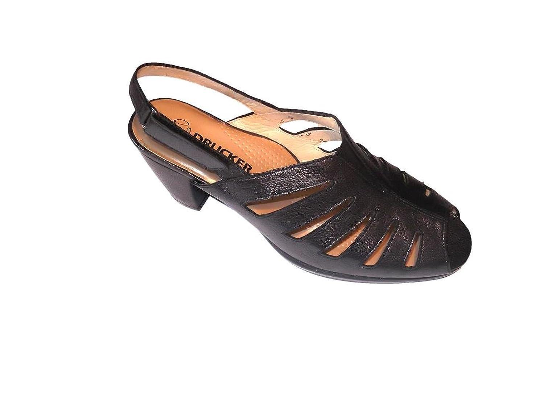 29b0124d 30% de descuento Drucker Sandalia/Mujer Color Acero/Ancho Especial/Cierre  Fácil
