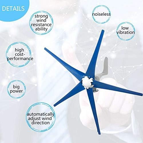 GJZhuan 600W Wind-Turbinen-Generator-12V / 24V 5 Blades Horizontal Windgenerator Mit Steuerpult Windmühle Energieanlagen Lade (Size : 12V)