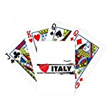 I Love Italy Word Love Heart Illustration Poker Playing Cards Tabletop Game Gift