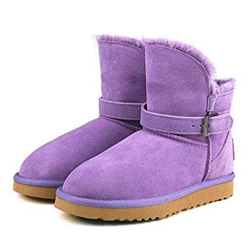 Women's Ausland Leather Ways 9527 Boot Three Wearing Lavender Snow Cowhide fqqRTwUnxv