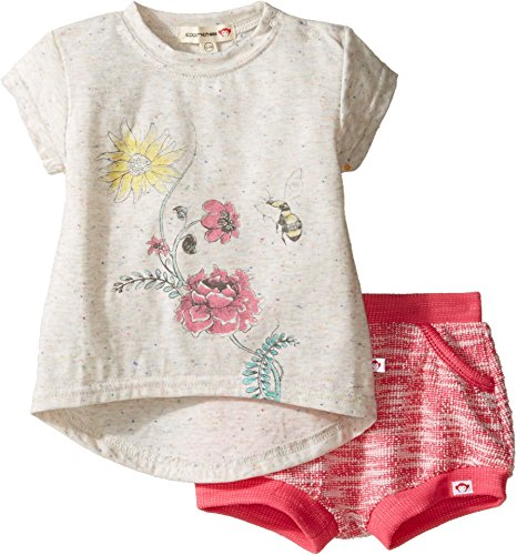 Appaman Baby Girls' Circle Tee/Bubble Short Set, French Hydrangea, 12/18 Months -