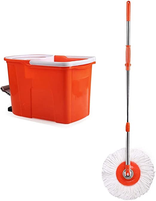 Spinning Mop and Bucket Cleaning Set Pedal Design Hangable Hogar ...