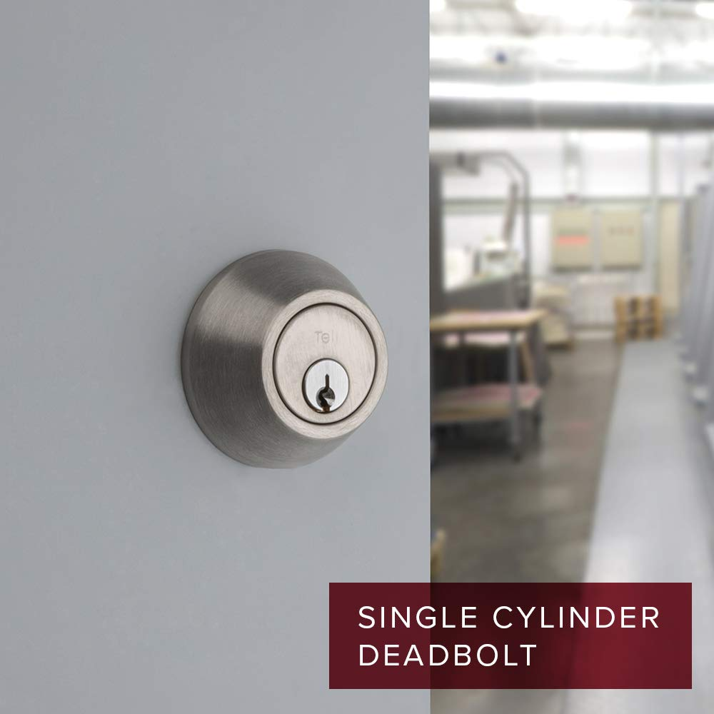 Tell DB2051 32D ADJ ADA SCC Satin Stainless Steel Single Cylinder Deadbolt