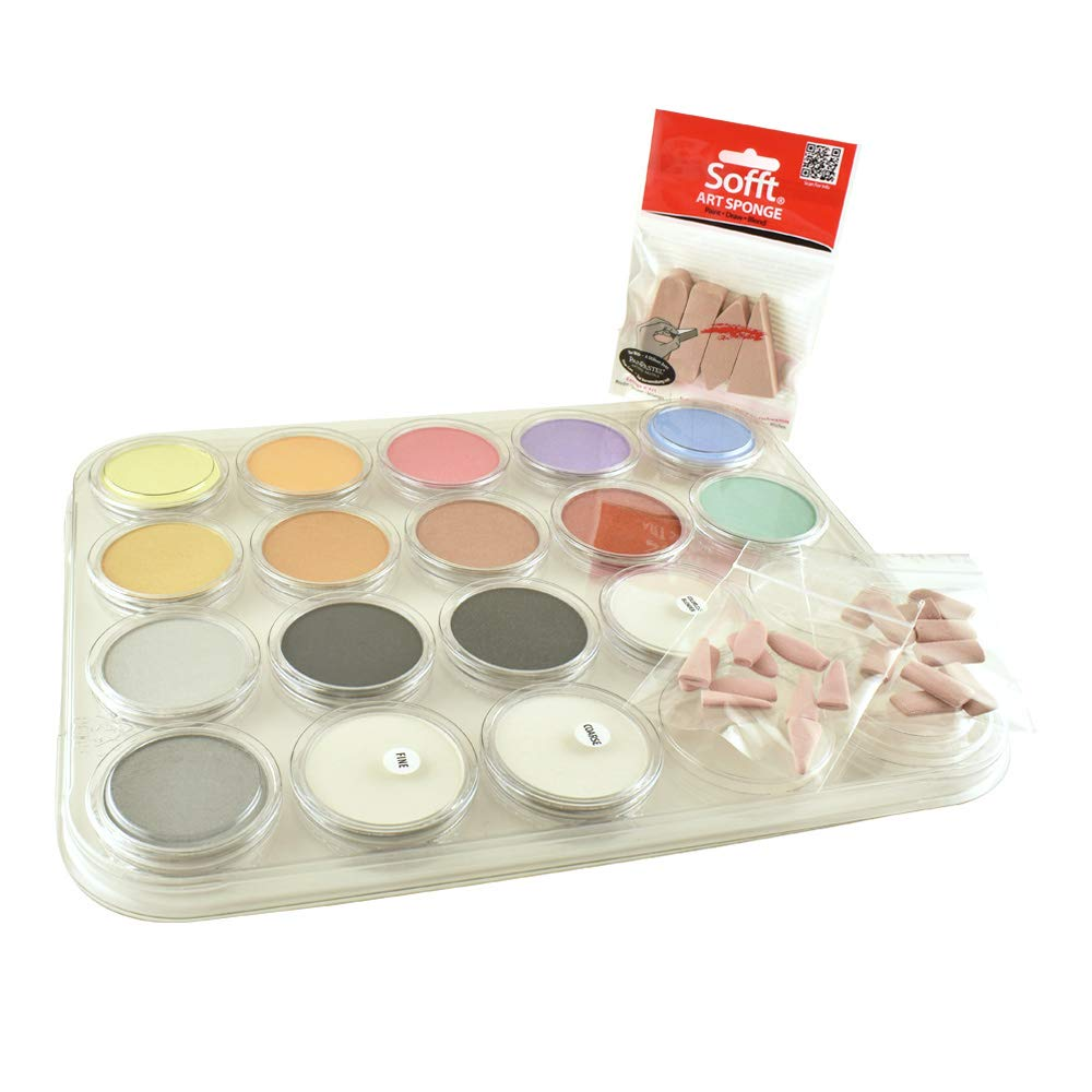 Colorfin Panpastel 17 Metallic/Pearl/Medium Set, Multi by Colorfin