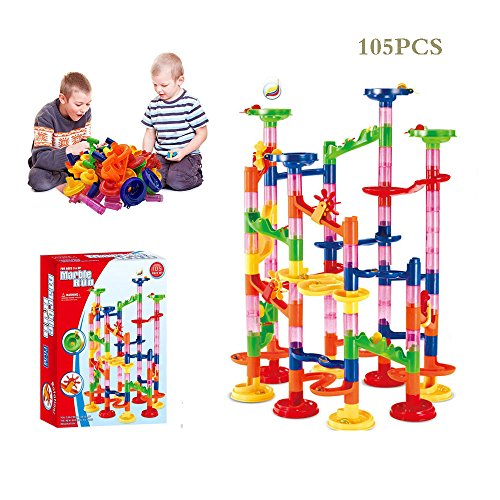 Amazingbuy DIY Construction Marble Run Race, Maze Balls, Marble Run Race Coaster Maze Toys for Kids, Educational Construction Building Blocks Toy - 105PCS by Amazingbuy