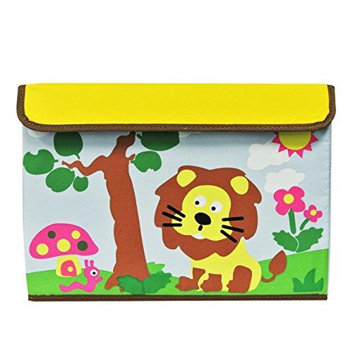 Wrapables Tela de los niños caja de almacenaje para juguetes y ropa, León