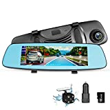 "ZUMIMALL Dash Cam Rear View Mirror Car Camera, ADAS 4G 7.84"" Wifi FM GPS Bluetooth Dual Lens Rear view Mirror Video Recorder Full HD 1080P Car Camera 32GB Card Car Charger"