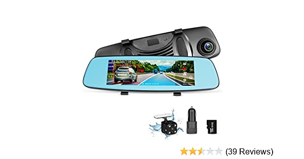 Dash Cam Rear View Mirror Car Camera ADAS 4G 7.84 WiFi FM GPS Navigation Bluetooth Dual Lens Rear View Mirror Video Recorder Full HD 1080P Car Camera 32GB Card Car Charger Grandtech-CCTV 4336324344