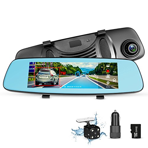 ZUMIMALL Dash Cam Rear View Mirror Car Camera, ADAS 4G 7.84