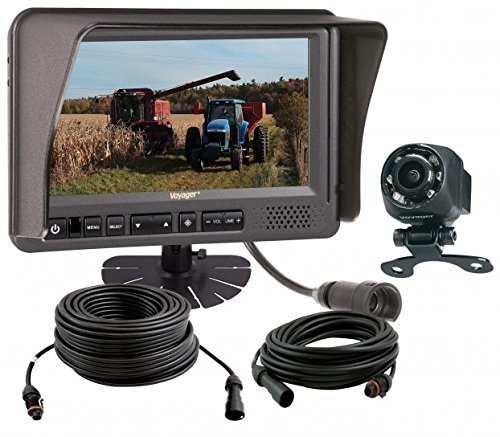"""Voyager VOS7MDCL1B ToughCam 1-Camera Observation System, ToughCam 7"""" LCD Observation Monitor, ToughCam High Performance CMOS Camera, VOSHD4MNT 4"""" LCD Monitor Mount, CEC25 25' Cable and CEC75 75' Cable"""