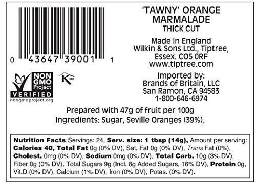 Tiptree Tawny Orange Marmalade, 12 Ounce Jars (Pack of 6)