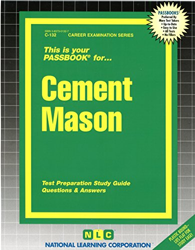 Cement Mason(Passbooks) (Passbook for Career Opportunities)