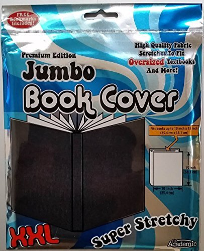 It's Academic Premium Edition Super Stretch Book Cover: Black - Fits 10