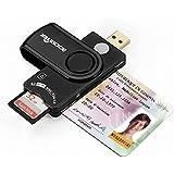 Rocketek CAC Card Reader e lettore di schede di memoria USB DOD di concezzione militare per l'accesso intelligente, compatibile con Windows (32 / 64bit) XP / Vista / 7/8/10