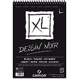 Bloco Espiralado Canson XL® Dessin Noir Black 150g/m² A4 21 x 29,7 cm com 40 Folhas – 60039086